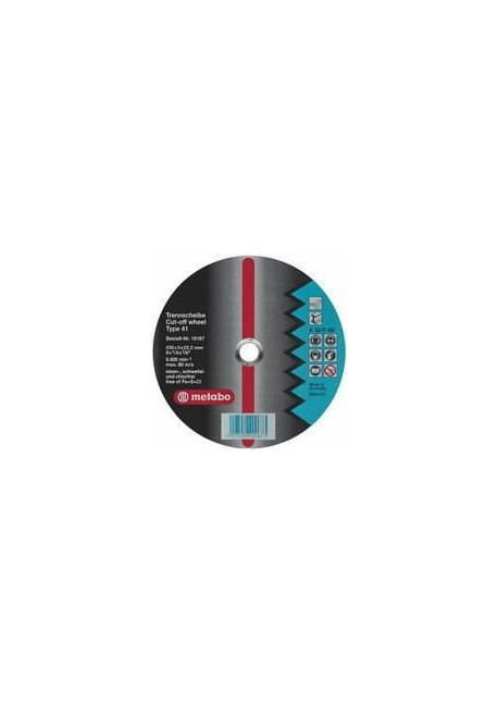 Diskas šlifavimo 125x6x22 mm A30-O, Metabo