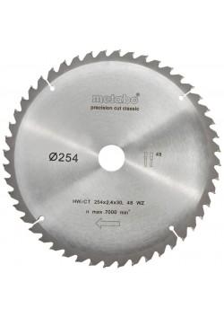 Pjovimo diskas 254x2,4/1,8x30, z48, WZ, -5°, Classic., Metabo