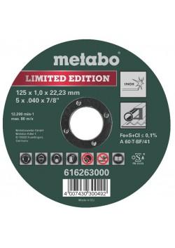 Pjovimo diskas metalui 125x1mm Special Edition II Inox, Metabo